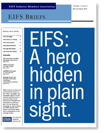 EIFS Briefs - Vol 7, Issue 3 - EIFS Industry Members Association - EIMA Newsletter