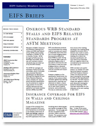 EIFS Briefs - Vol 7, Issue 7 - EIFS Industry Members Association - EIMA Newsletter
