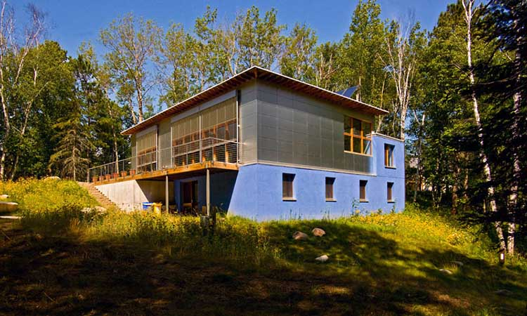 Residential EIFS Projects: Waldsee BioHaus Environmental Living Center, Bermidji, Minnesota