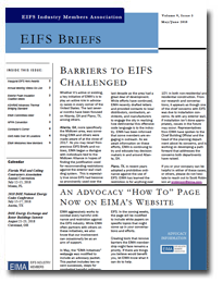EIFS Briefs - Vol 9, Issue 5 - EIFS Industry Members Association - EIMA Newsletter