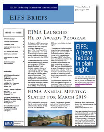 EIFS Briefs - Vol 9, Issue 6 - EIFS Industry Members Association - EIMA Newsletter