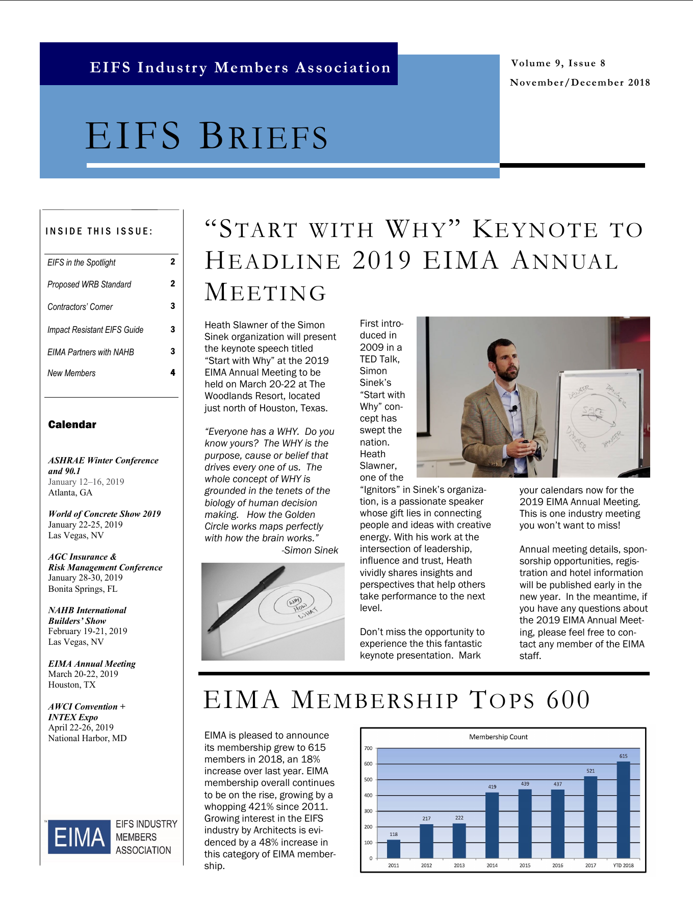EIFS Briefs - Vol 9, Issue 8 - EIFS Industry Members Association - EIMA Newsletter
