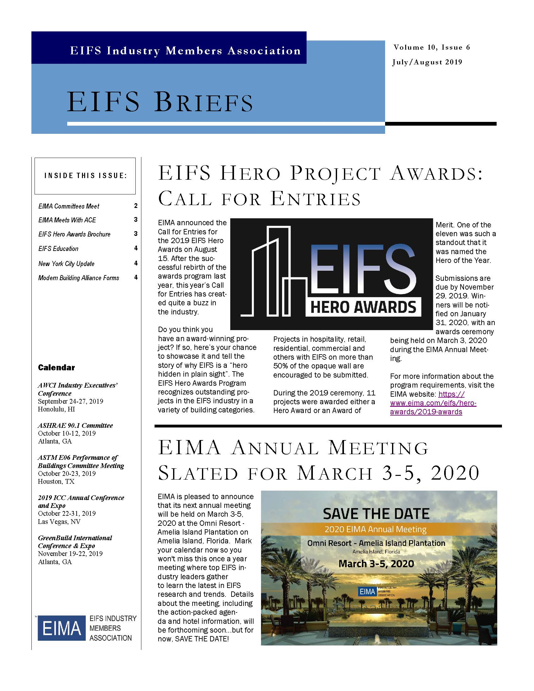 EIFS Briefs - Vol 10, Issue 6 - EIFS Industry Members Association - EIMA Newsletter