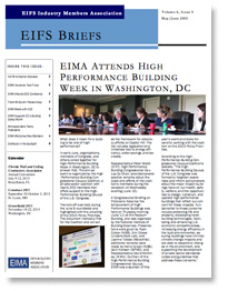 EIFS Briefs - Vol 6, Issue 5 - EIFS Industry Members Association - EIMA Newsletter