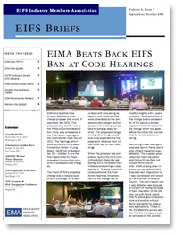 EIFS Briefs - Vol 6, Issue 7 - EIFS Industry Members Association - EIMA Newsletter