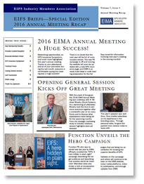EIFS Briefs - Vol 7, Issue 4 - EIFS Industry Members Association - EIMA Newsletter