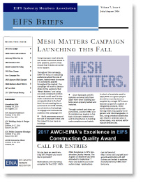 EIFS Briefs - Vol 7, Issue 6 - EIFS Industry Members Association - EIMA Newsletter
