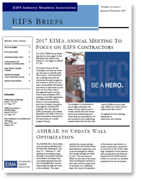 EIFS Briefs - Vol 8, Issue 1 - EIFS Industry Members Association - EIMA Newsletter