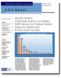 EIFS Briefs - Vol 8, Issue 4 - EIFS Industry Members Association - EIMA Newsletter