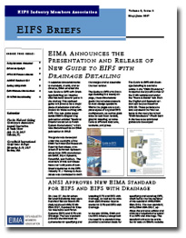 EIFS Briefs - Vol 8, Issue 5 - EIFS Industry Members Association - EIMA Newsletter