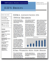EIFS Briefs - Vol 8, Issue 8 - EIFS Industry Members Association - EIMA Newsletter