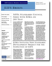 EIFS Briefs - Vol 8, Issue 7 - EIFS Industry Members Association - EIMA Newsletter