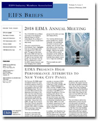 EIFS Briefs - Vol 9, Issue 2 - EIFS Industry Members Association - EIMA Newsletter